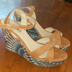 Cable wedge sandles